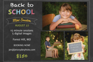Back to School portraits!