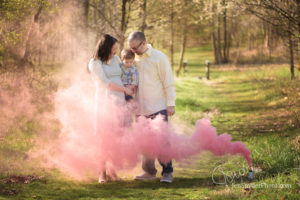 Gender Reveal with Colored Smoke!