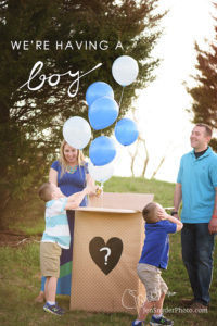 Gender Reveal with Balloons!