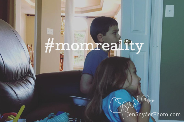 celebrate your reality by pushing back against fake perfection with #momreality