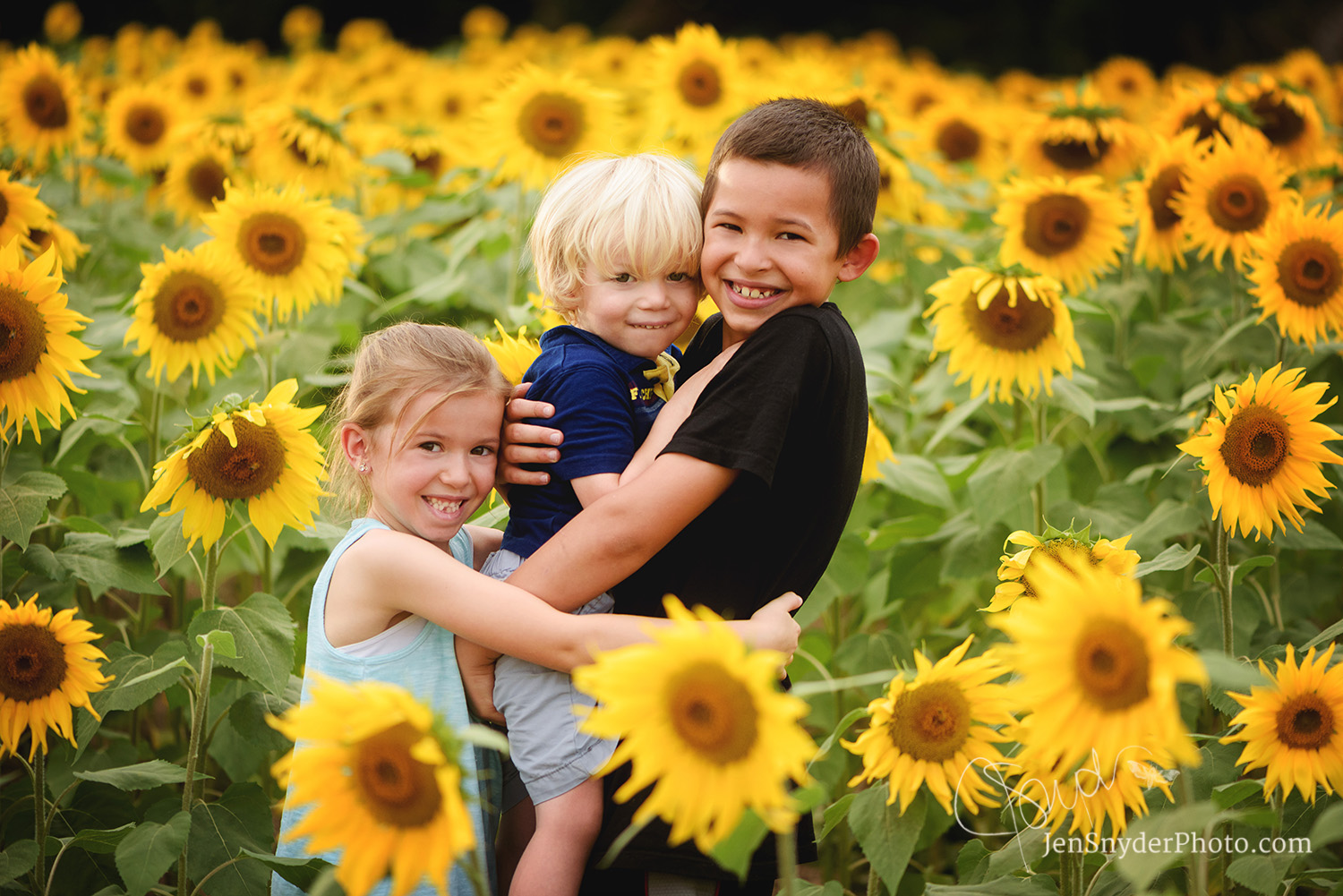 Harford County, Maryland sunflower portrait children's photographer Jen Snyder http://www.jensnyderphoto.com