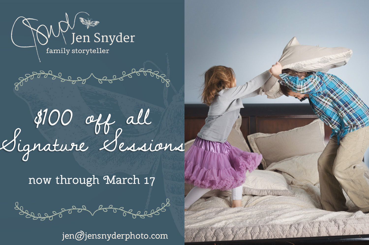 Jen Snyder, family storyteller - special discount on Signature Storytelling sessions http://www.jensnyderphoto.com