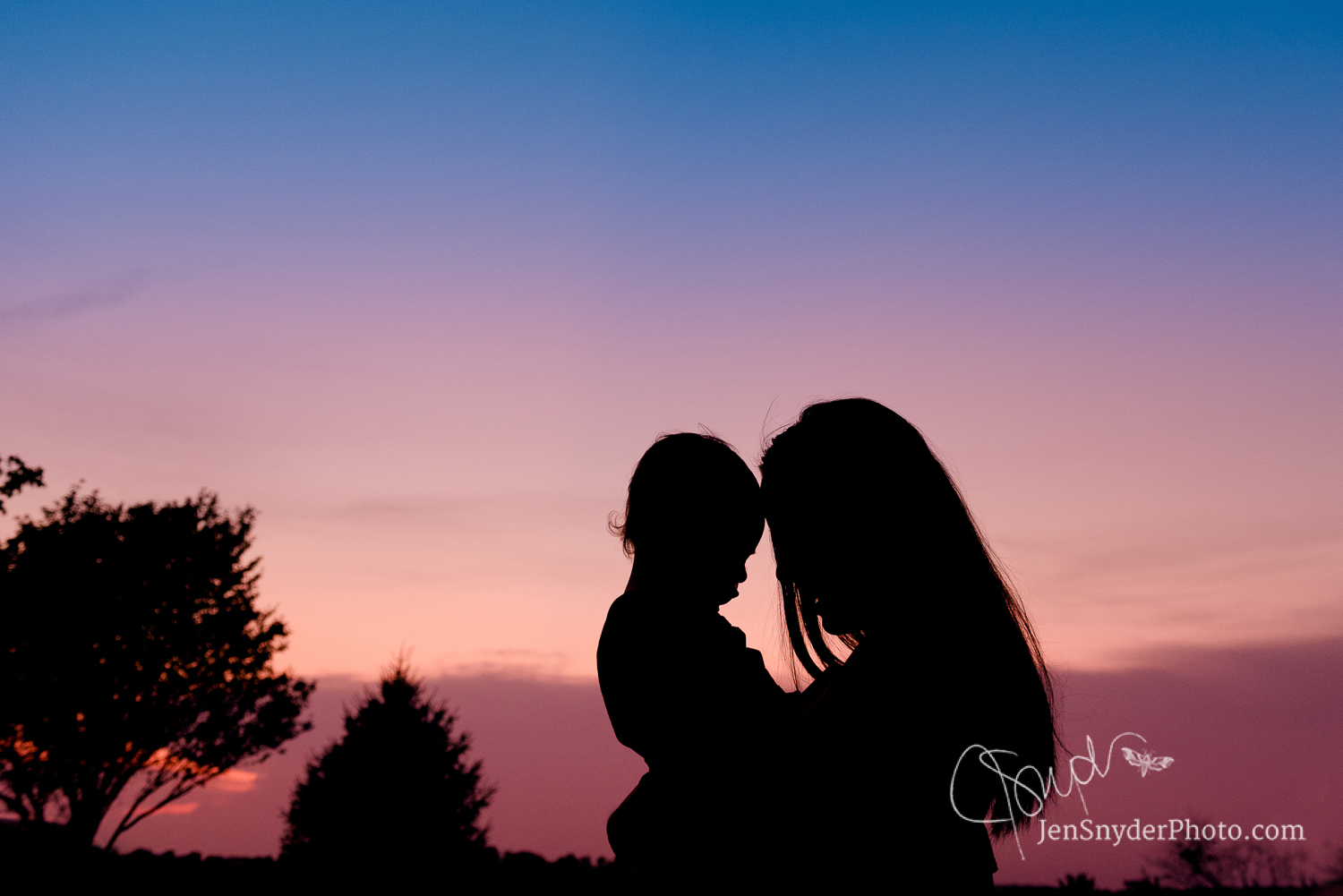 Harford County, Bel Air, MD sunset silhouette family photographer Jen Snyder http://www.jensnyderphoto.com