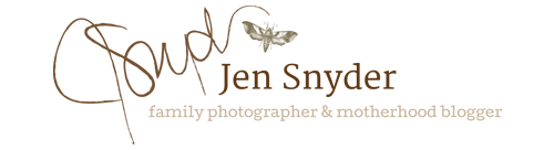 Harford County, Baltimore MD family photographer Jen Snyder logo